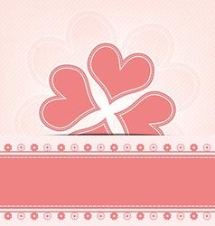 heart flower retro design vector image