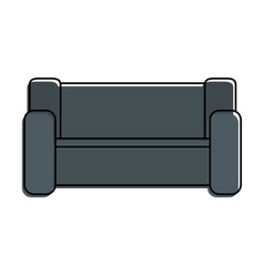 home couch isolated icon vector image