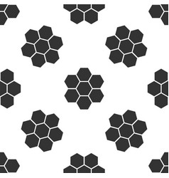 Honeycomb sign icon seamless pattern vector
