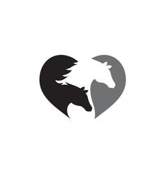 Horse logo template icon vector