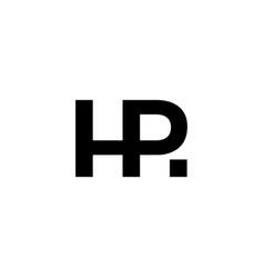 Hr letter rh initial logo icon vector