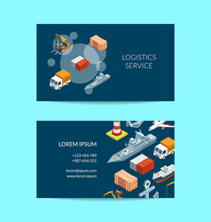 isometric marine logistics or seaport vector image