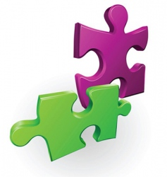 jigsaw pieces vector image