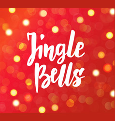 jingle bells text hand drawn brush lettering vector image