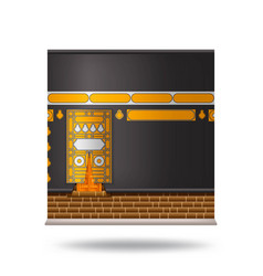 Kaaba in mecca icon design with beautiful black vector