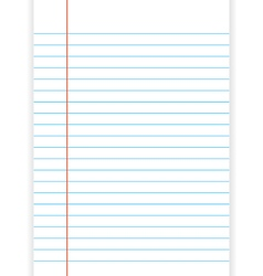 Lined paper from a notebook on white background vector