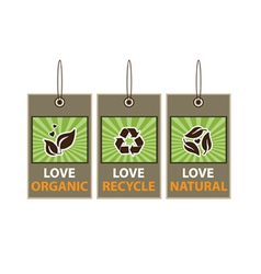Love Ecology vector image