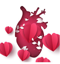 love landscape medical heart vector image