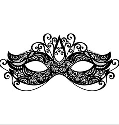 Masquerade mask design vector