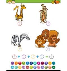 mathematical educational task vector image