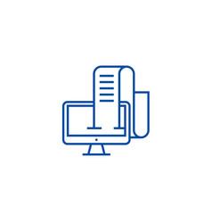 online blog journalist line icon concept online vector image