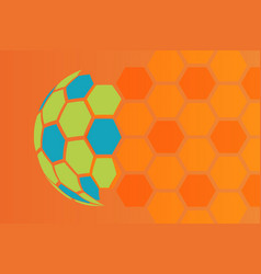 orange abstract background soccer football texture vector image