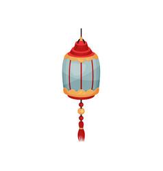 oriental street or house lantern decorative vector image