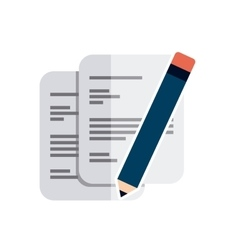 paper documents with business icon vector image vector image