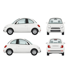 passenger car different view realistic vector image