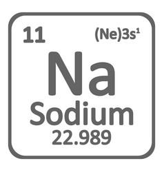 periodic table element sodium icon vector image