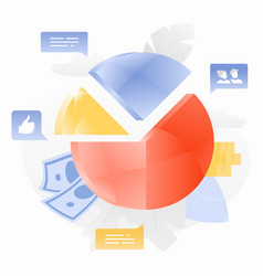 pie chart creative vector image