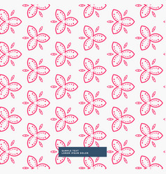 pink flower pattern background vector image