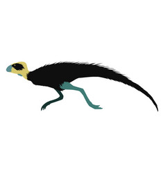 Pisanosaurus on white background vector