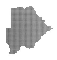 pixel map of botswana dotted map of botswana vector image