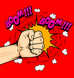 punch in comic style design element for emblem vector image