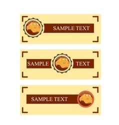 Rail Road Sample Banners vector