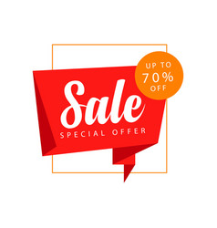 Sale up to 70 off special offer template design vector