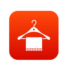 Scarf on coat hanger icon digital red vector