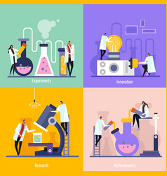science lab flat design concept vector image