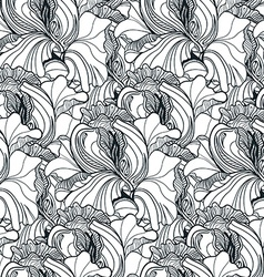Seamless floral doodle background pattern in vector