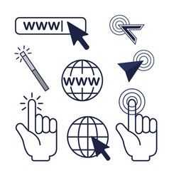 Set arrow mouse cursor and global connection vector