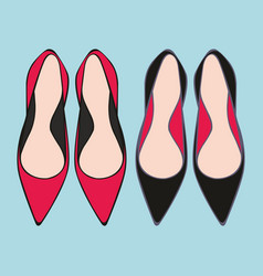 Shoes decorative for design vector