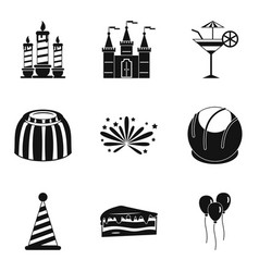 Solemnization icons set simple style vector