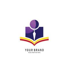 student symbol logo vector image