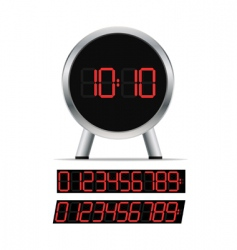stylish digital clock vector image