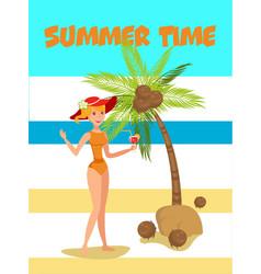 summertime cartoon vector image