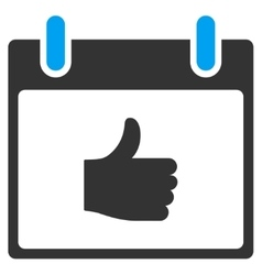 Thumb Up Calendar Day Toolbar Icon vector