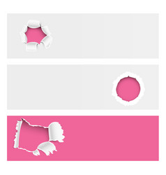 torn edges hole lacerated ragged paper edge vector image