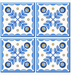 traditional portugal lisbon azulejo ceramic tiles vector image