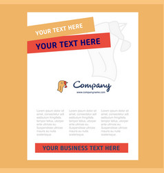turkey title page design for company profile vector image