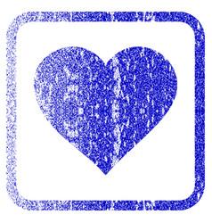 Valentine heart framed textured icon vector