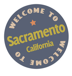 Welcome to sacramento california vector