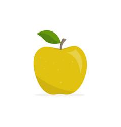 Yellow apple appetizing fruit vector