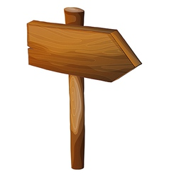 A blank wooden arrow signboard vector image vector image