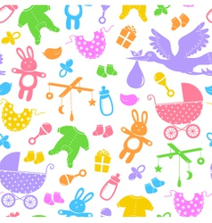 baby items pattern vector image