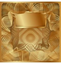 gold vintage background frame vector image