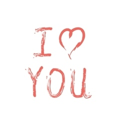 I love you lettering on white vector image vector image