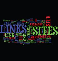 Links exchange a hazardous business text vector