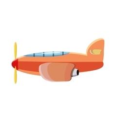 Orange plane icon cartoon style vector image vector image