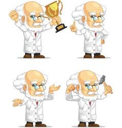 Scientist or Professor Customizable Mascot 7 vector image vector image